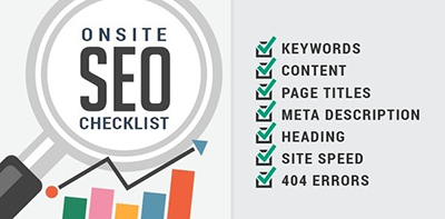 On Site SEO Checklist